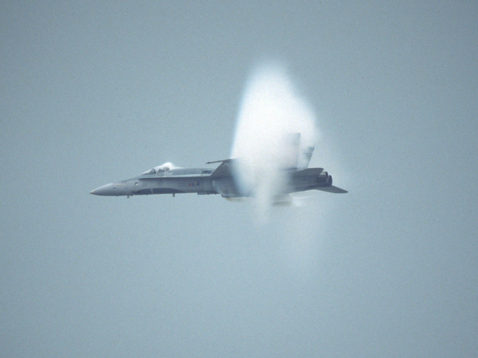 Canadian airforces cf 18 clear shock cone